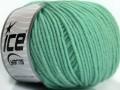 Superwash merino - mátově zelená