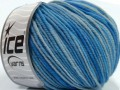 Superwash merino - modré odstíny