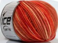 Superwash merino - oranžové odstíny