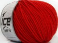 Superwash merino - rajčatovo červená