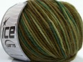 Superwash merino - zelené odstíny