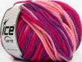 Superwash vlna bulky color - purpurovorůžovofuchsiová