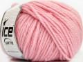 Superwash vlna bulky - světle růžová