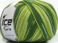 Superwash vlna color - zelené odstíny