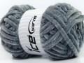 Velvet chenille glitz - šedostříbrná