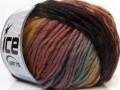 Vivid vlna - černohnědorůžová