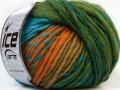 Vivid vlna - zelenotyrkysovozlatá