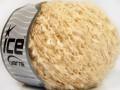 Vlna bavlna buklé - krémová 1