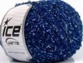 Vlna bavlna buklé - modrá