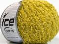 Vlna bavlna buklé - olivovë zelená