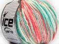 Vlna bulky color - mátovolososovábílá