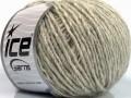 Vlna cord aran - béžovosvětle šedá