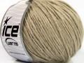 Vlna cord aran - bílá káva 1