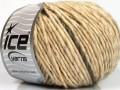 Vlna cord aran - krémová melánž 1