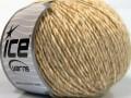 Vlna cord aran - krémová melánž