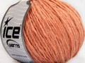 Vlna cord aran - světle lososová 1
