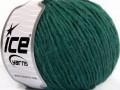 Vlna cord aran - tmavá smaragdově zelená