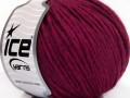 Vlna cord aran - tmavě fuchsiová 2