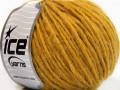 Vlna cord aran - zlatá 4