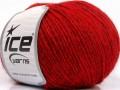 Vlna Cord light - červená