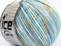 Vlna Cord light - světlemodrobéžovobílá