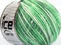 Vlna Cord light - zelenobílá