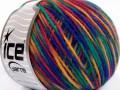 Vlna Cord light - zelenopurpurovočervenooranžová