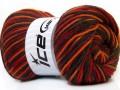 Vlna deluxe color - červenokhakioranžová