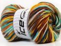 Vlna deluxe color - tyrkysovomodrožlutá