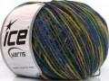 Vlna DK color - purpurovozelenomodrobéžová