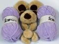 Vlna na dětskou šálku /balíček - 2 ks/ - fialová