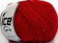 Vlna Paillette - červená