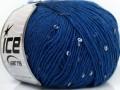 Vlna Paillette - modrá
