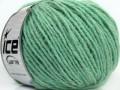 Vlna worsted 50 - mátově zelená