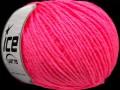 Vlna worsted 50 - neonově růžová