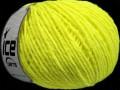 Vlna worsted 50 - neonově žlutá