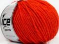 Vlna worsted 50 - oranžová