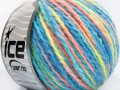Vlna worsted color - tyrkysovolososovozelená