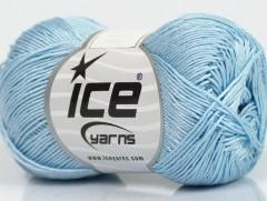 Almina bavlna - světle modrá