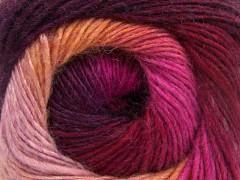 Alpaka aktiv - kaštanovofuchsiovovínovozlatosvětle růžová