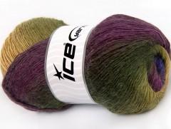 Alpaka aktiv - purpurovokaštanovozelené odstíny