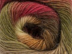 Alpaka aktiv - zelenovínovohnědokrémová