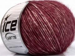Alpaka bavlna - vínovokrémová