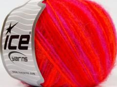Alpaka deluxe - neonověoranžovofuchsiovočervená