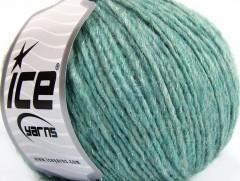 Alpaka glitz - mátovozelenostříbrná