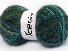 Alpine angora color - zelenonámořnickátyrkysová