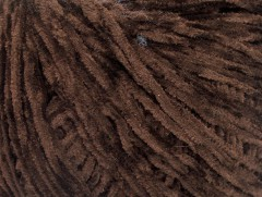 Amigurumi Chenille - tmavě hnědá