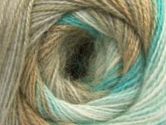 Angora Active - velbloudíbéžovotyrkysovobílá