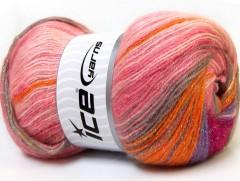 Angora color glitz - růžovooranžovofialová
