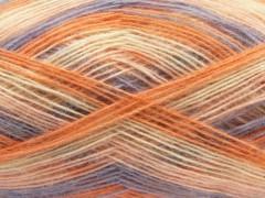 Angora colors - oranžovofialovokrémová